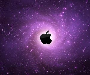 apple, galaxy, and purple image