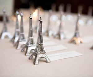 paris, eiffel tower, and wedding favors image