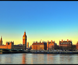 dawn, london, and river image