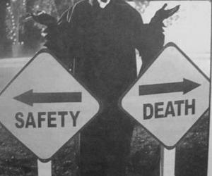 death, safety, and scream image