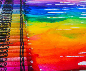 art, colors, and rainbow image