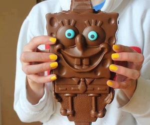 bob esponja, chocolate, and mar image