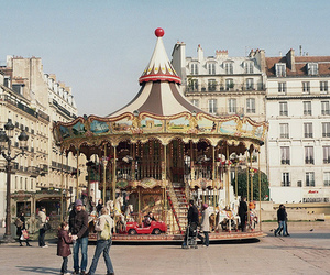 carousel, beautiful, and vintage image