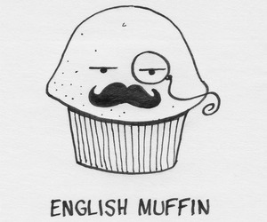 muffin, english, and mustache image