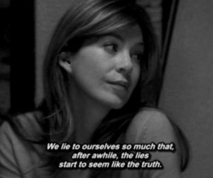 grey's anatomy, lies, and meredith grey image