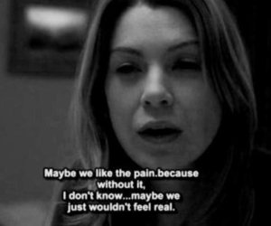 pain, quotes, and grey's anatomy image
