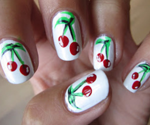 nails, beauty, and paint image