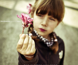 children, flower, and pink image