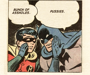 batman, robin, and comic image