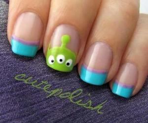 nails, alien, and blue image