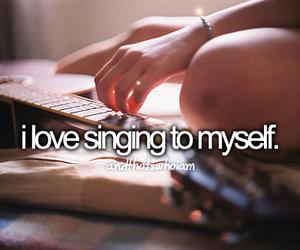 myself, singing, and love image