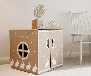 diy cardboard house image