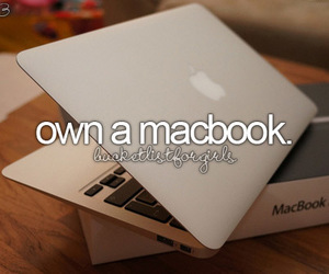 macbook, apple, and bucket list image
