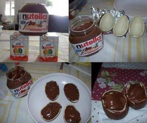 nutella, chocolate, and kinder image