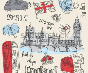 london, england, and drawing image