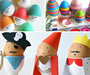 children, diy, and decorated easter eggs image