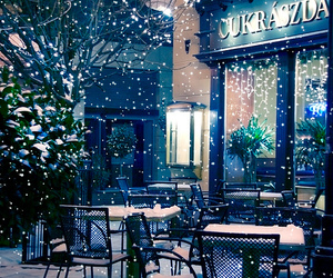 snow, winter, and hungary image