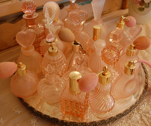 perfume, pink, and vintage image