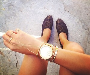 ;), chanel, and legs image