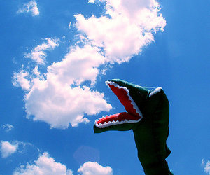 clouds, sky, and dragon image
