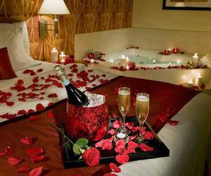 romantic, rose, and red image