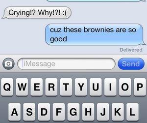 brownies, humor, and message image