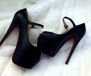 black, heels, and high heels image