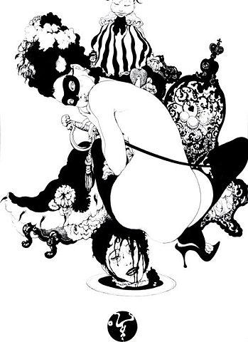 Art Nouveau, art noveau, and black and white image