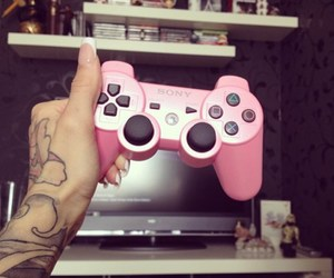 tattoo, pink, and playstation image
