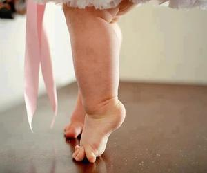 baby, ballet, and pink image