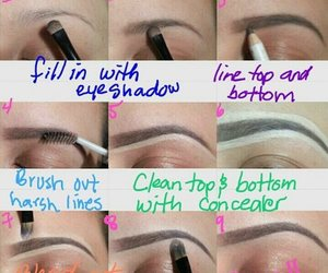 diy, do it yourself, and eyebrows image