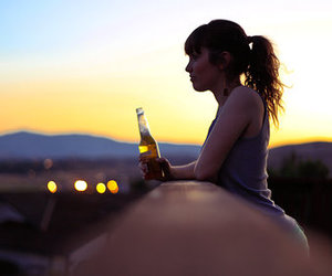 girl and beer image