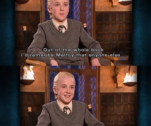 draco malfoy, tom felton, and harry potter image