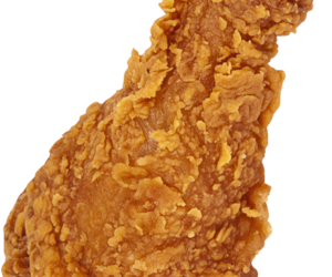 transparent and fried chicken leg image