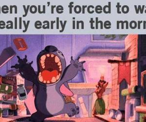 funny, stitch, and morning image