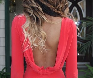 beautiful, curly hair, and dress image