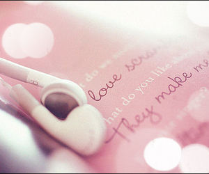 music, pink, and love image
