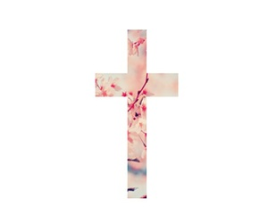 cross, flowers, and pink image