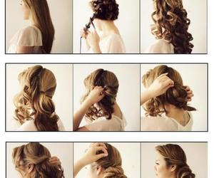 tutorial, hair, and hairstyle image