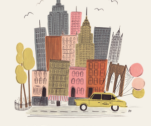new york, city, and drawing image