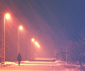 alone, rain, and snow image