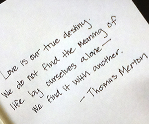quote, thomas merton, and love image