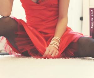 dress, red, and caroline maria image