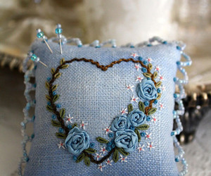 blue and sewing image