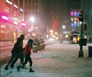 snow and city image