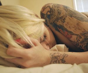 girl, tattoo, and tatto image