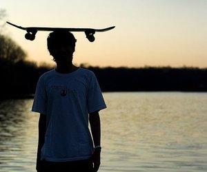 skate, boy, and skateboard image