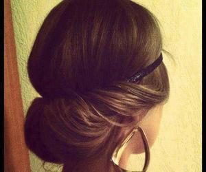 earrings, hairstyle, and fashion image