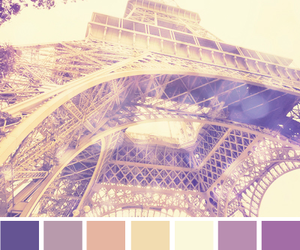 black, color, and eiffel tower image