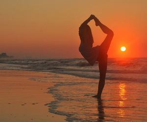 girl, beach, and sun image